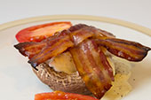bacon mushroom low carb breakfast idea
